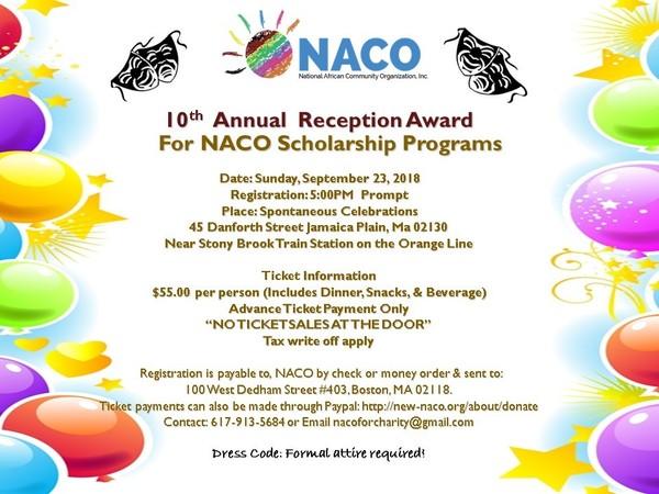NACO Reception Award for NACO Scholarship Program