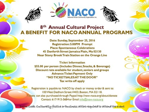 National African Community Organization 8th Annual Cultural Banquet